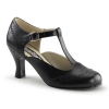 FLAPPER-26 Black Faux Leather